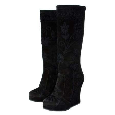 Zeyzani Suede Wedge Boots